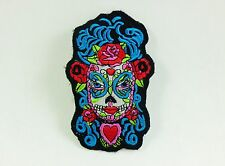 BL CATRINA ROSE HEART MYSTIC DAY OF THE DEAD PUNK ROCKABILLY IRON ON PATCH