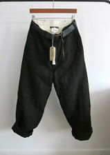 *NWT* PAUL HARNDEN SHOEMAKERS BELTED WOOL/LINEN TROUSERS (BLACK, SMALL)