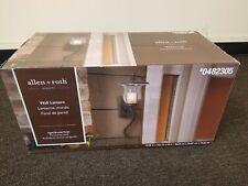 New allen + roth Kenneset 29-in H Bronze Outdoor Wall Light 0482305