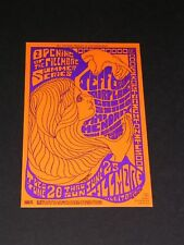 Jimi Hendrix Jefferson Aiplane Psychedelic Fillmore Postcard by Seeley Bg069