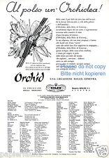 Uhr Rolex Reklame von 1957 Italien Ochidee Armbanduhr watch werbung ad Orchid