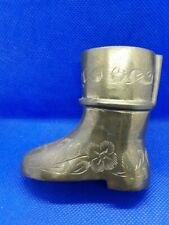 Collectible miniature solid brass boot