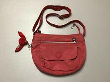 KIPLING Red Faded Madalyn Crossbody Shoulder Mini Bag Used! Adjustable Strap!