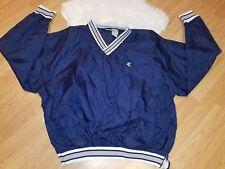 Vintage Mens Jerzees Pullover Windbreaker XL Navy Blue Jacket