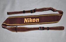 NIKON GENUINE  DSLR CAMERA NECK STRAP BURGUNDY  FOR NIKON USED *N10*