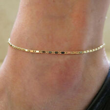 Simple Gold Chain Anklet Ankle Bracelet Barefoot Sandal Beach FootJewelry