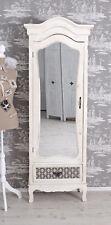 Wardrobe Shabby Linen Closet White Mirror Cabinet Antique Hallway Cupboard New