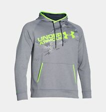 UNDER ARMOUR Mens Storm Armour Fleece Graphic Hoodie Grey 1270595 025 NEW $60 XL