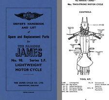 James No. 98 Series 1 F Lightweight Motor Cycle Drivers Handbook & List of Spare