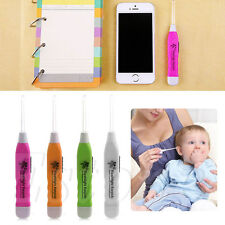 New Flashlight Earpick Ear Wax Dig Remover Cleaner Curette Gadget With LED Light