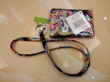 Vera Bradley Zip ID Case and Lanyard Parisian Paisley Badge Holder School Work