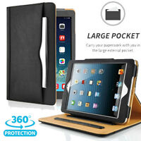 For iPad 2/3/4 Gen. Smart Wake/Sleep Leather Case Wallet Cover Pocket Stand Skin