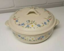 Poole Pottery Springtime Pattern - Oven To Table Casserole Dish & Lid.