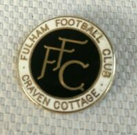 Vintage Fulham Football Club Craven Cottage Lapel Pin Enamel Collectible