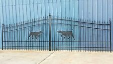 Wrought Iron Style Steel Driveway Entry Gate 18 Ft Wd Ds Residential Security