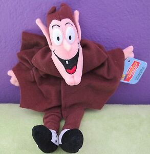 """1997 COUNT CHOCULA 8"""" Plush Bean Bag Doll General Mills Cereal Rare Collectible!"""