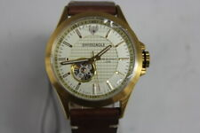 Swiss Eagle SE-9159A-03 Scout Swiss Automatic w Brown Leather Strap Open Heart