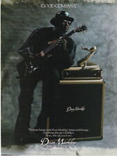 1987 CLASSIC BO DIDLEY DEAN MARKLEY AMP AD WITH THE COBRA SNAKE