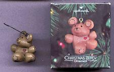 HALLMARK 1980 Christmas CHRISTMAS TEDDY Bear Ornament w/ BOX