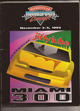 1995 Homestead Motorsports Miami 300 Program Jiffy Lube