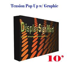 10 Pop Up Stand With Free Printing Tension Fabric Trade Show Display Booth Frame