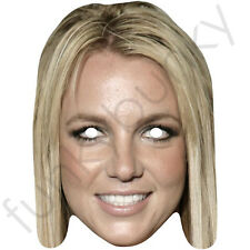 Britney Spears Celebrity Singer American Card Mask -All Our Masks Are Pre-Cut
