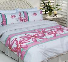 Lisa Pollock Daisy Pink White DOUBLE Size Quilt Doona Cover Set