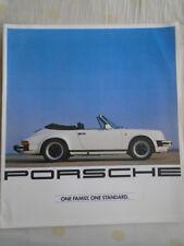 Porsche range brochure c1983