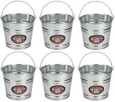 (6) Behrens 1208Gs 8 Quart Galvanized Sheet Steel Water Pail / Buckets w Handle