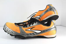 Brooks Surge MD Track Field Shoes Spikes Sz 9 B Middle Distance Running Orange