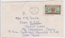 (K132-86) 1950 South Rhodesia 2d letter to Cape town (CM)