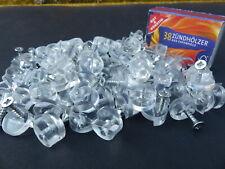 50 Glashalter, Glasscheibenhalter für Möbelverglasungen