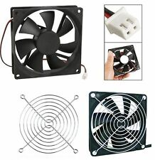 1 x 120MM 12 VOLT DC COOLING VENTILATION FAN & GRILL CARAVAN RV PART ACCESSORIES