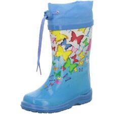 Beck Children's Girl's Wellies Butterflies Blue 868