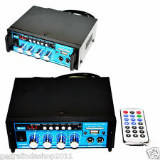 PDR*AMPLIFICATORE AUDIO 12V220VUSB SD 2 MICROFONI MP3FM CASA AUTO KARAOKE BT188A