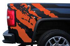 Custom Vinyl Graphics Decal Wrap Kit for 2014-17 GMC Sierra Parts RIPPED Orange