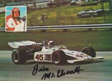 1974 Jim McElreath signed Thermo King Offy Eagle Indy Car postcard