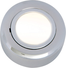 Knightsbridge Low Voltage Round Under Cabinet Light Fitting Chrome Finish IP20