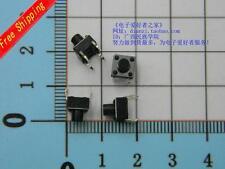 50pcs 4pin Tact Switch White botton switch  Volume 6*6*7.5mm  #CG512-1