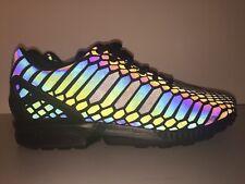 Adidas Originals ZX Flux XENO Reflective 3M Running Black Men Size 10.5 - AQ7418