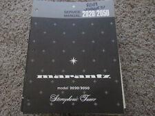 New listing Marantz 2020 2050 Stereophonic Receiver Original Service Repair Manual