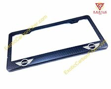 Mini Cooper Logo's Only Carbon Fiber license Plate Frame *Top Quality*
