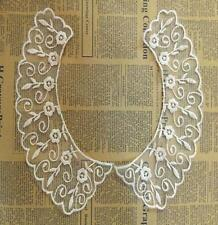 1pcs Handmade Embroidery Organza Lace  Fake Collar clothes decoration
