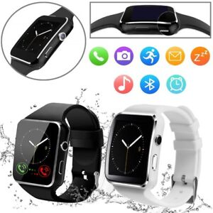 X6 Curved Screen Bluetooth Smart Wrist Watch Phone for Samsung iPhone Android