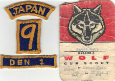 """1957 CUB SCOUT BGS JAPAN 1/4"""" STRIP / PACK 9 / DEN 1 WITH PROVENANCE VERY RARE!"""