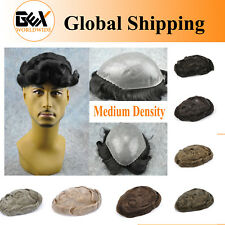 GEX Medium Density SKIN Mens HairPiece Toupee Poly Base RemyReplacement Systems