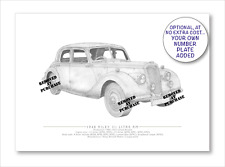 Riley 1.5 Litre RM 1948 A5 print