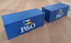 Siku Container P&O, 2 Stück, 1:55