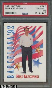 1991 Skybox #542 Mike Krzyzewski PSA 10 GEM MINT