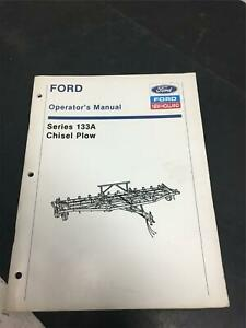 Ford operators manual series 133A chisel plow / New Holland tractor attachments